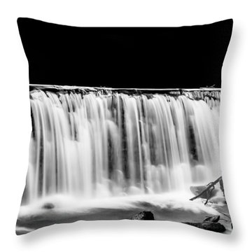 Waterfall At Night Throw Pillow
