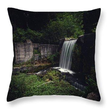 Waterfall At Paradise Springs Throw Pillow