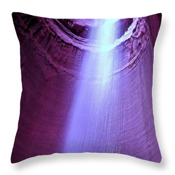Waterfall At Ruby Falls Throw Pillow