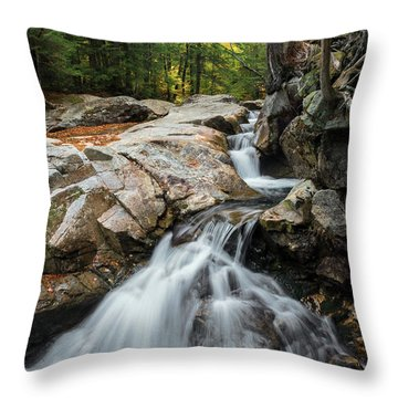 Waterfall At The Basin Throw Pillow