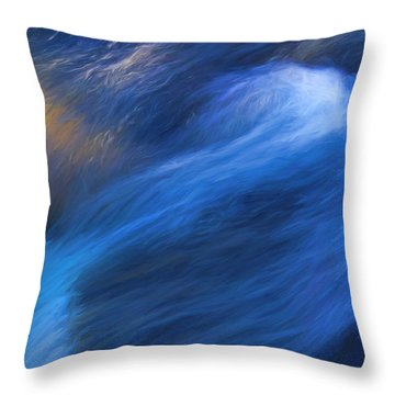 Throw Pillow featuring the photograph Waterfall Detail by Clare VanderVeen