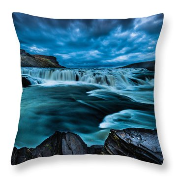 Waterfall Drama Throw Pillow by Chris McKenna