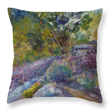 Chartreuse And Magenta Throw Pillow