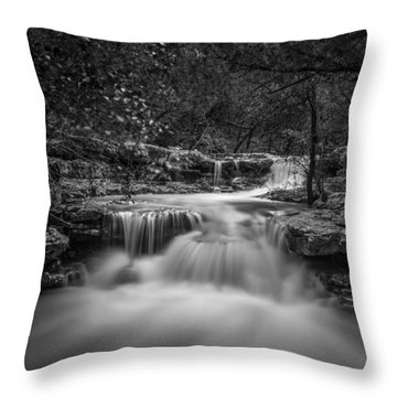 Waterfall In Austin Texas - Square Throw Pillow