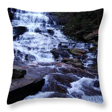 Waterfall In Georgia Throw Pillow
