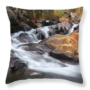 Waterfall In Lee Vining Canyon 2 Throw Pillow
