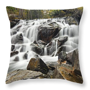 Waterfall In Lee Vining Canyon Throw Pillow