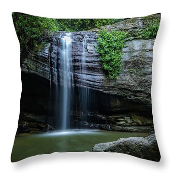 Throw Pillow featuring the photograph Waterfall In Paradise by Keiran Lusk