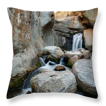 Waterfall In The Buttermilks Throw Pillow