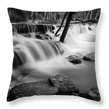 Waterfall Throw Pillow by James Barber