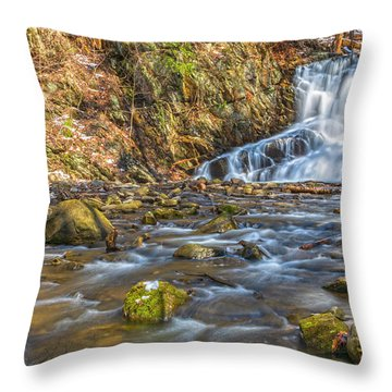 Waterfall Of April Snow Throw Pillow
