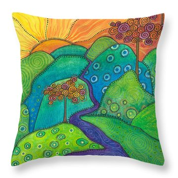 Waterfall Of Hope Throw Pillow by Tanielle Childers