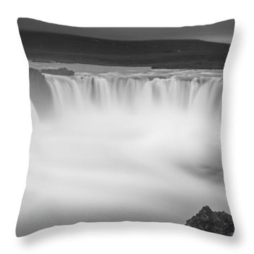 Waterfall Of The Gods Iceland Throw Pillow