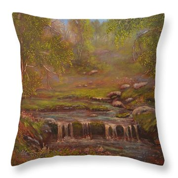 Waterfall Paridise Throw Pillow