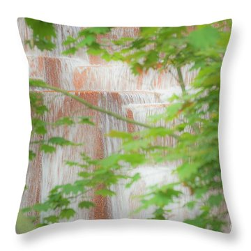 Waterfall, Portland Throw Pillow