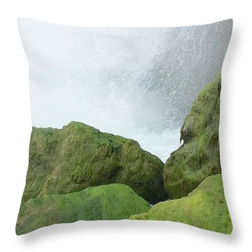 Throw Pillow featuring the photograph Waterfall by Raymond Earley