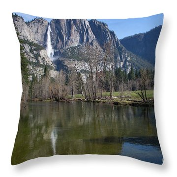 Waterfall Reflection Color Throw Pillow
