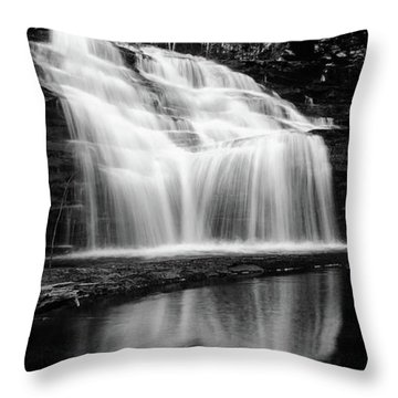 Waterfall Reflection Throw Pillow