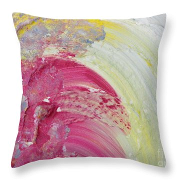 Waterfall In Pink Throw Pillow