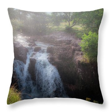 Waterfall Throw Pillow by Sergey Simanovsky