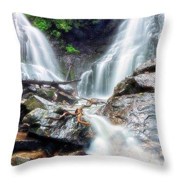 Waterfall Silence Throw Pillow