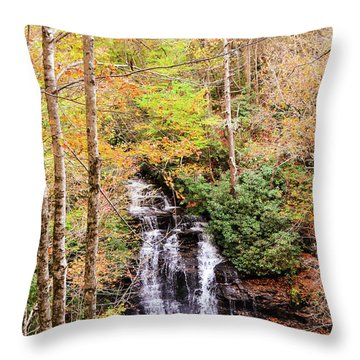 Waterfall Waters Throw Pillow
