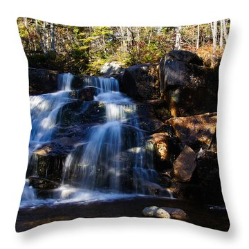 Waterfall, Whitewall Brook Throw Pillow