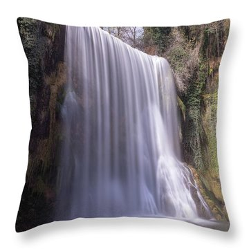 Waterfall With The Silk Effect Throw Pillow