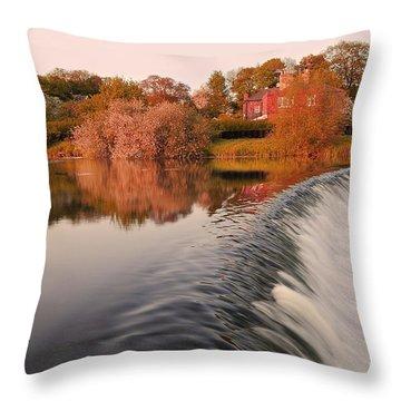 Waterfall06 Throw Pillow by Svetlana Sewell