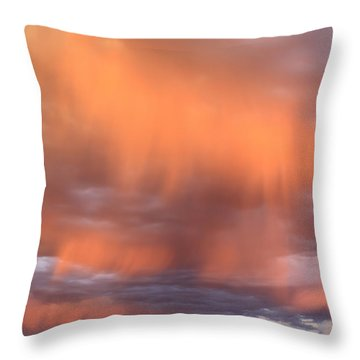 Waterfalls In The Sky Throw Pillow