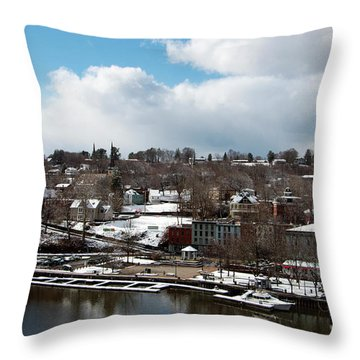 Waterfront After The Storm Throw Pillow by Jeff Severson