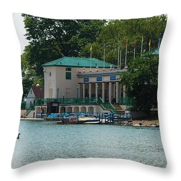 Throw Pillow featuring the photograph Waterfront by Jose Rojas