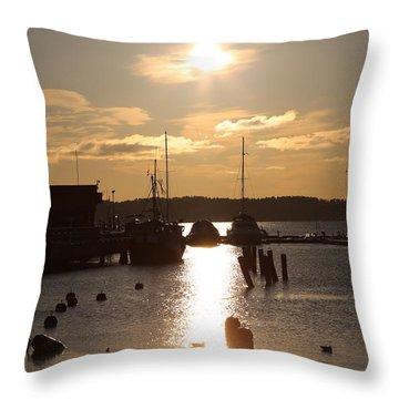 Waterfront, Oslo Fjords, Norway.  Throw Pillow