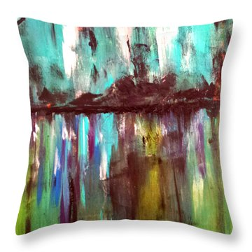 Waterfront Reflections Throw Pillow