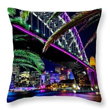 Waterfront Romance Throw Pillow