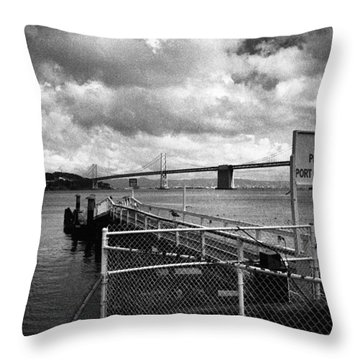 Waterfront San Francisco Throw Pillow