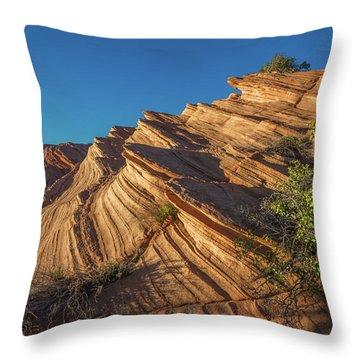 Waterhole Canyon Rock Formation Throw Pillow