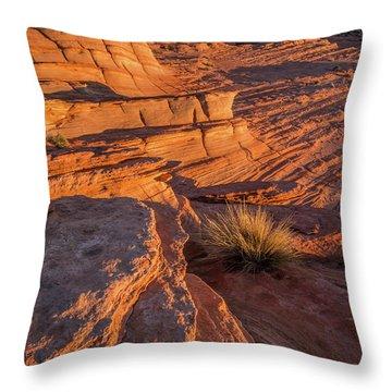 Waterhole Canyon Sunset Vista Throw Pillow