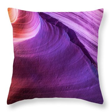 Waterhole Canyon Wave Throw Pillow