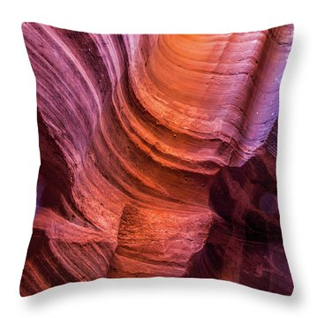 Waterholes Canyon Ribbon Candy Throw Pillow