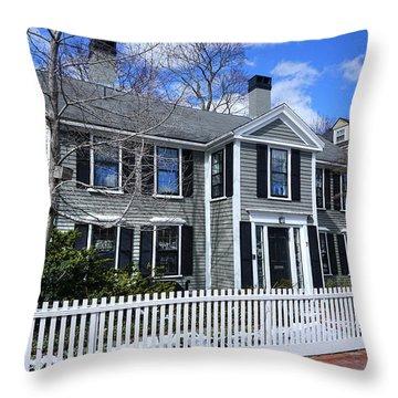 Waterhouse House In Cambridge Throw Pillow