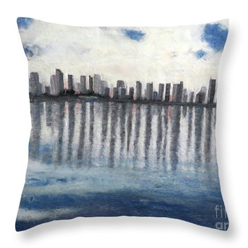 Water,ice,snow And More Throw Pillow