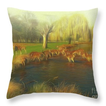 Watering Hole Throw Pillow
