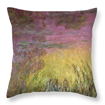 Waterlilies At Sunset Throw Pillow