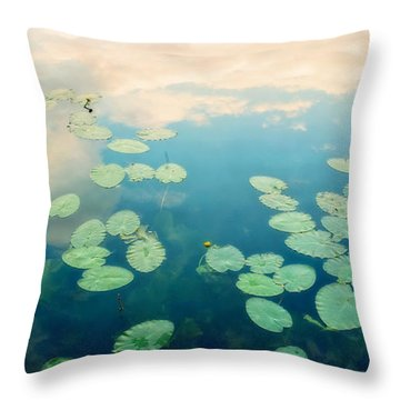 Waterlilies Home Throw Pillow