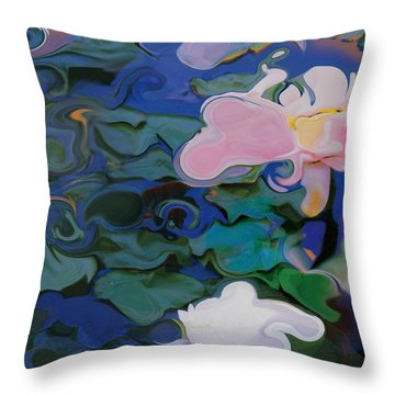 Waterlilies Six Throw Pillow