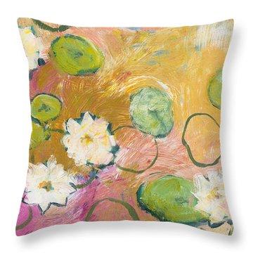Waterlillies At Dusk Throw Pillow
