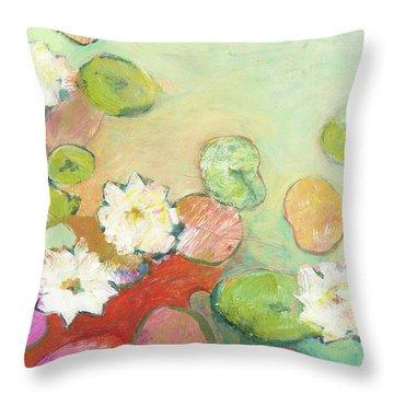 Waterlillies At Dusk No 2 Throw Pillow