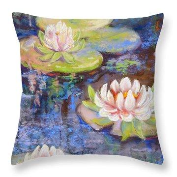 Waterlillies Throw Pillow
