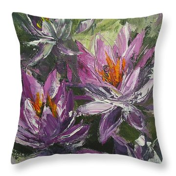 Waterlilly Throw Pillow by Chris Hobel